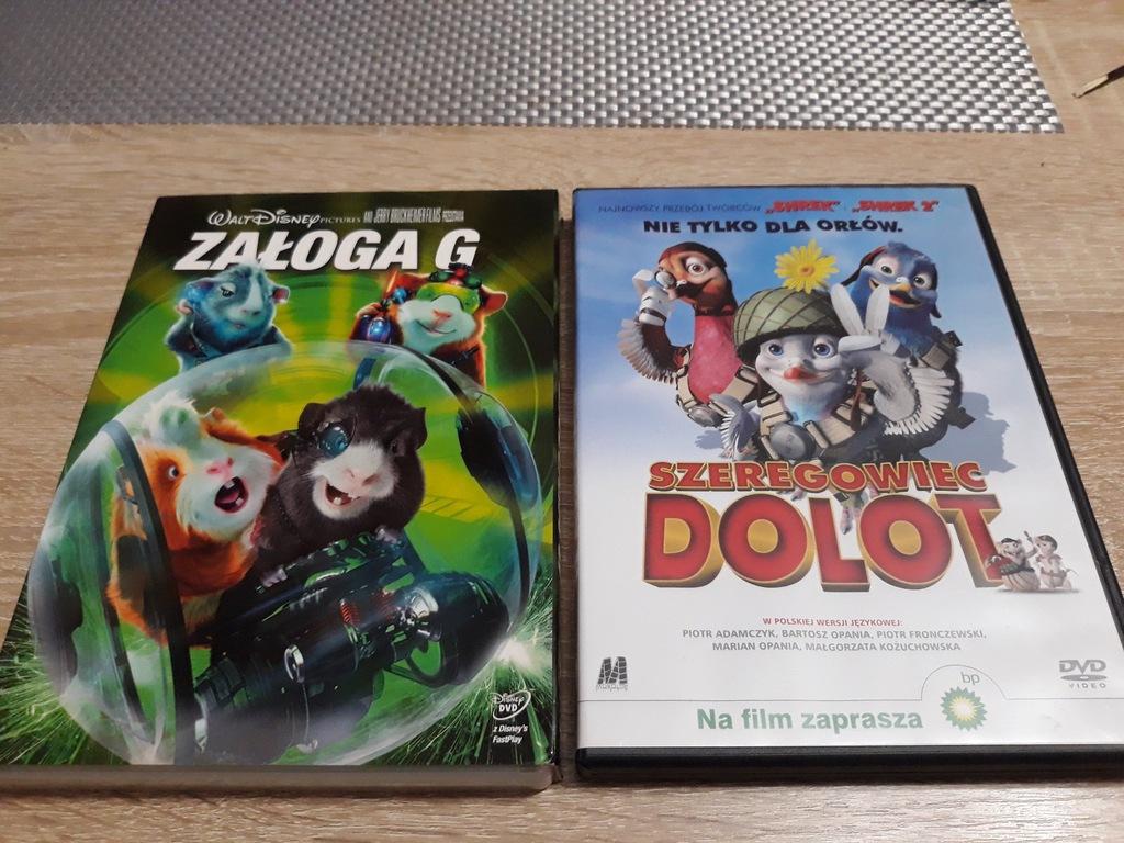 2 BAJKI FILMY DVD ZAŁOGA G, SZEREGOWIEC DOLOT