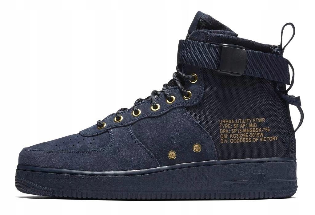 Darmowa dostawa+Buty męskie Nike SF Air Force 1 Mid Black