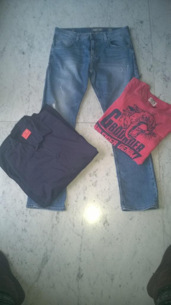 Okazja! Zestaw markowych ubrań męskich r.L/XL
