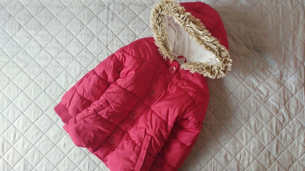 ciepła kurtka NEXT czerwona ZIMA 4 5 110 cm