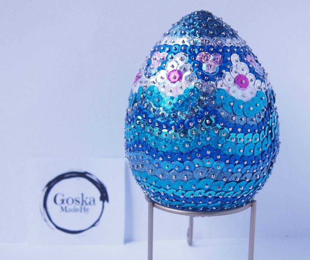 Jajko Wielkanocne Cekiny Ozdoba Rekodzielo Goska 7201350841 Oficjalne Archiwum Allegro