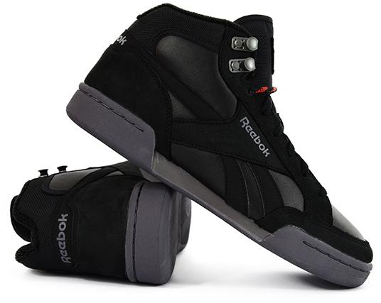 buty męskie reebok czarne przed kostkę