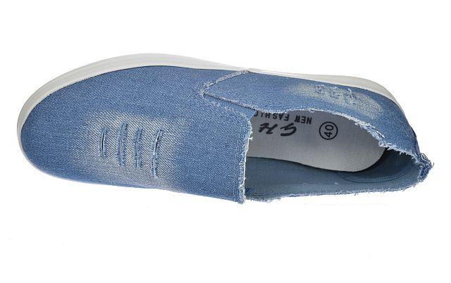 Slip on jeans trampki niskie tenisówki półtrampki 738 B