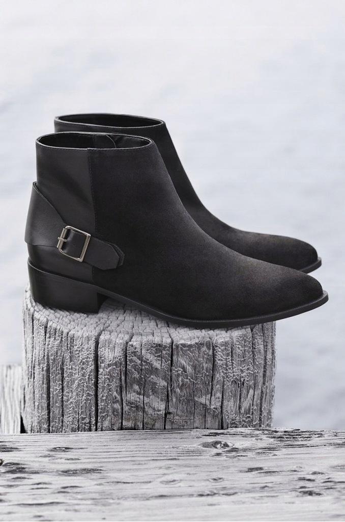 mcarthur buty czarne botki zdobione