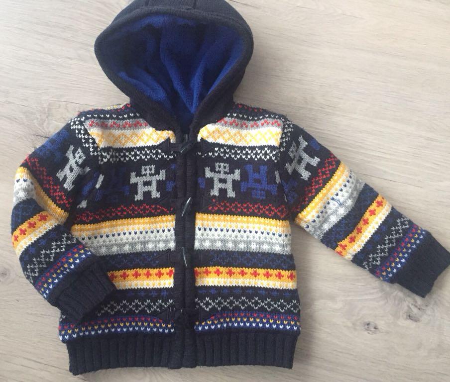 Sweter kurteczka ciepły Rebel rozm 86 92 BDB