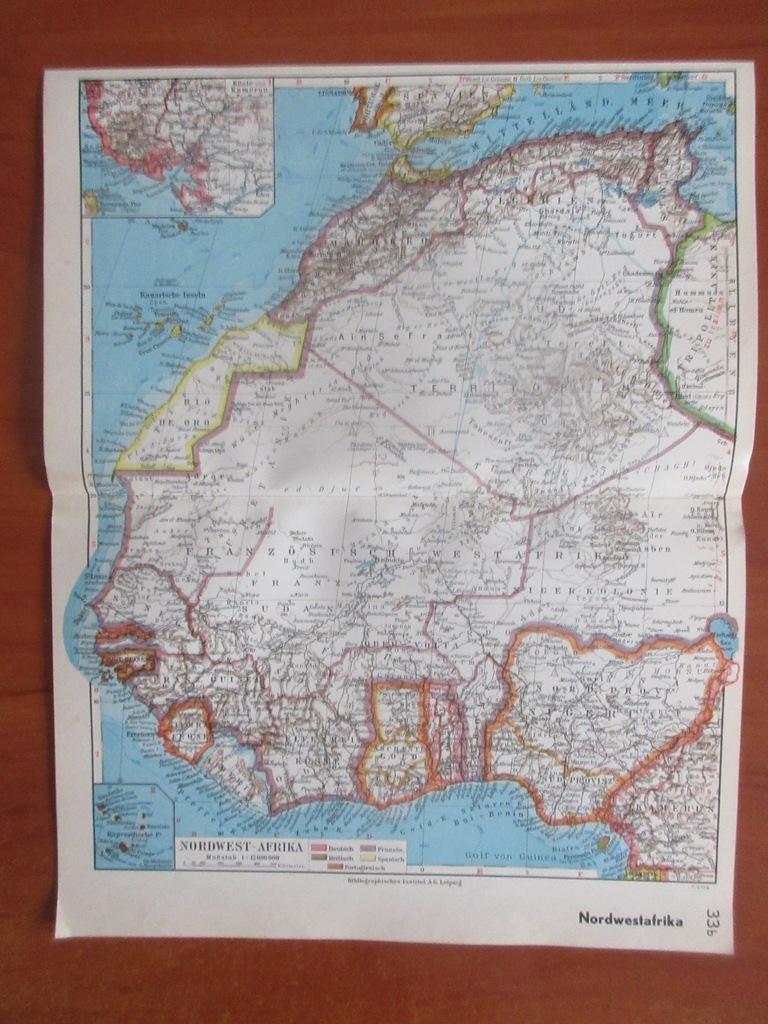 SAHARA NIGERIA SENEGAL   ROK 1936