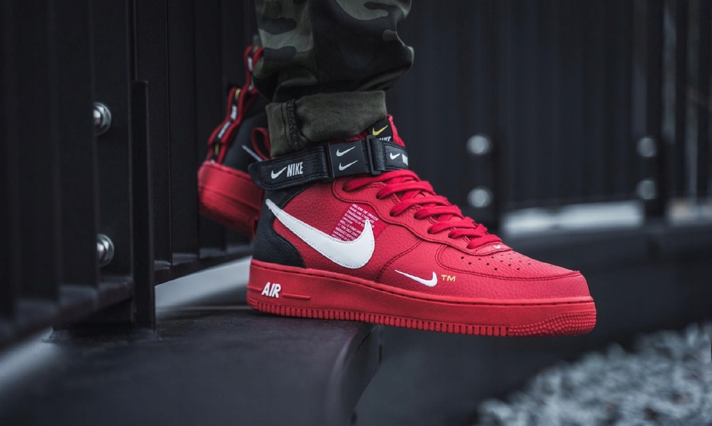 Buty Nike Air Force 1 Mid 07 Lv8 (university redwhite black tour yellow)