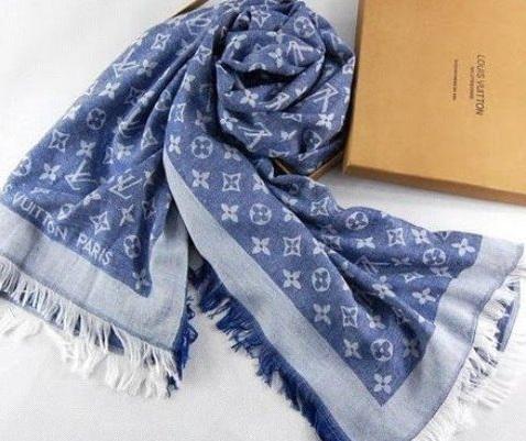 Nowy Szal Chusta Louis Vuitton Blekitna 140x140 7767081829 Oficjalne Archiwum Allegro