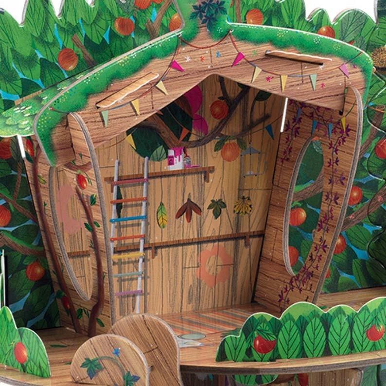 DJECO Układanka przestrzenna Leśny domek