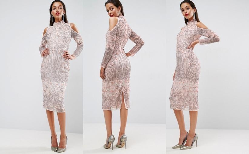 C3h404 Olowkowa Sukienka Sylwester Midi 36 S A02 7093338768 Oficjalne Archiwum Allegro
