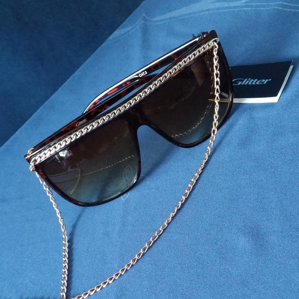 Okulary Przeciwsloneczne Glitter Lancuszek 7491604395 Oficjalne Archiwum Allegro