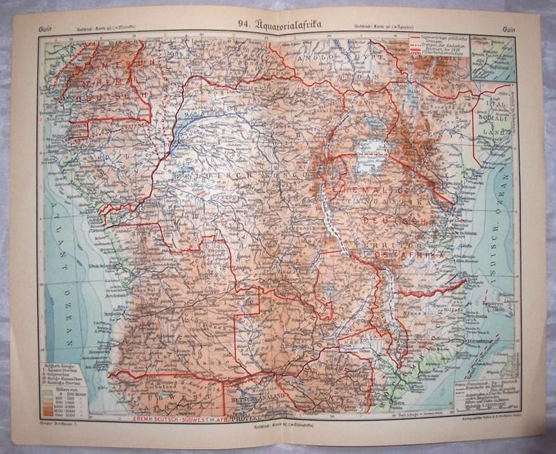 AFRYKA RÓWNIKOWA. Mapa 1930.