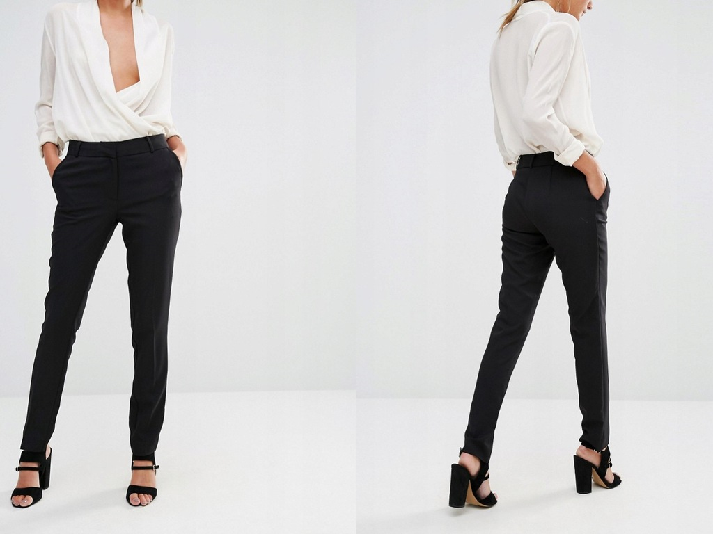 New Look Czarne Eleganckie Spodnie w Kant S36