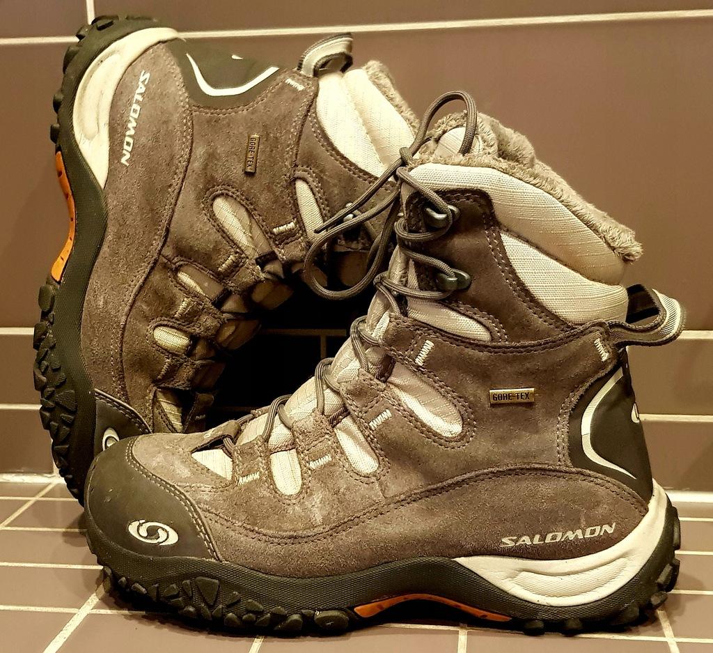 Salomon gore tex buty zima ciepłe góry 38 24.5 cm
