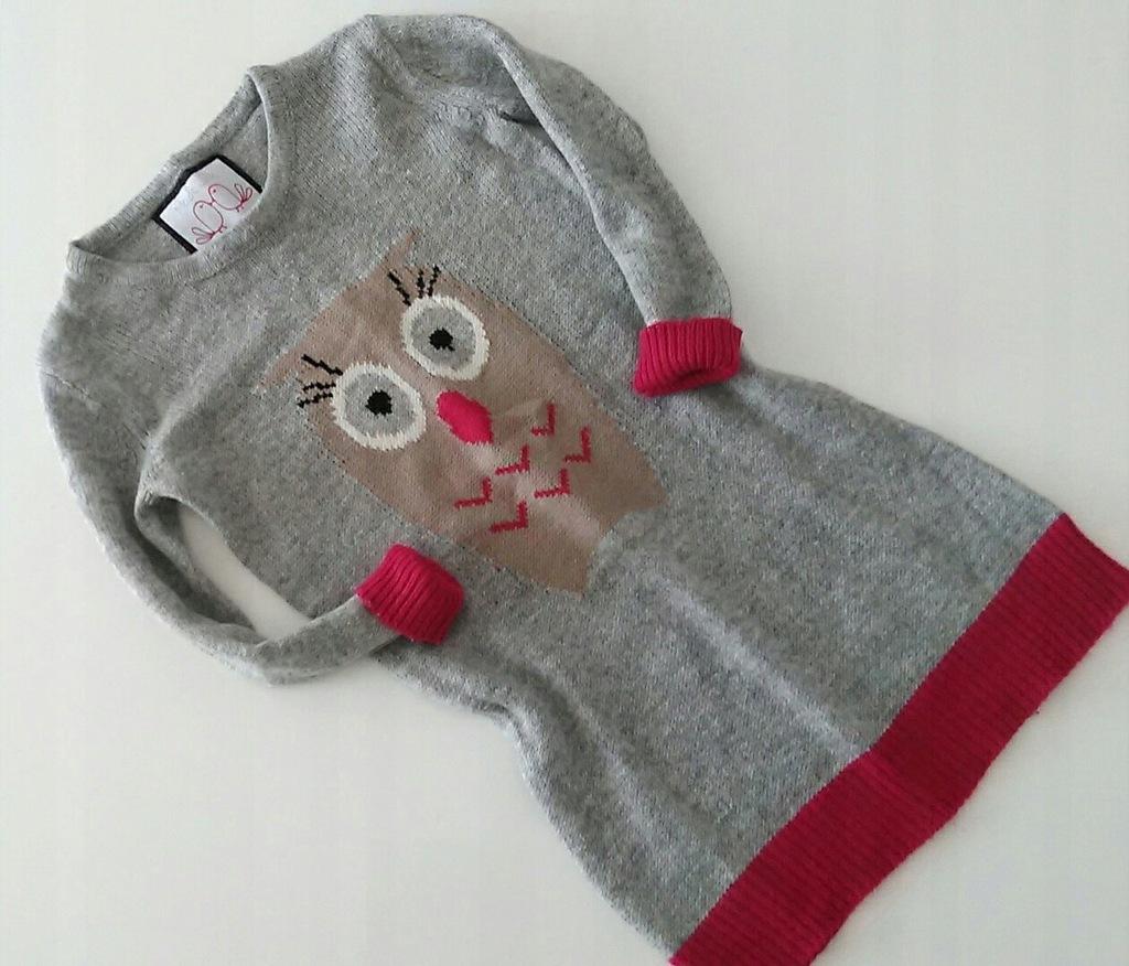St.Bernard_dłuższy sweterek z sówką_4lata