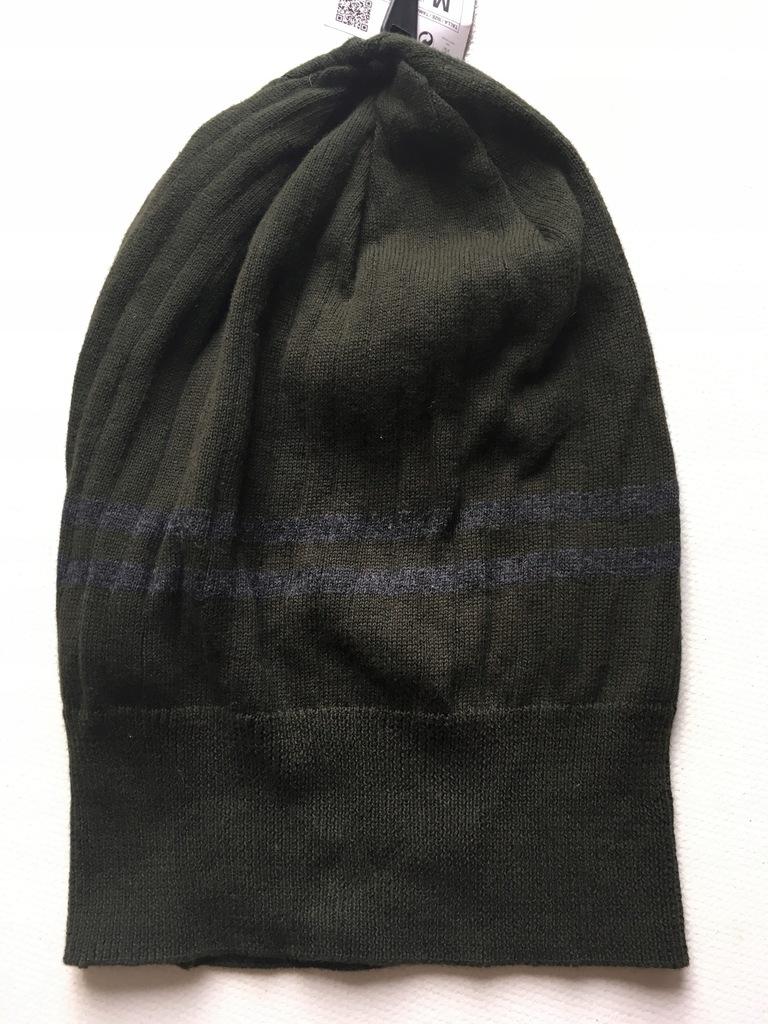 Zielona czapka jesienna ZARA 38