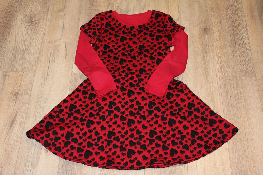 Czerwona sukienka wizytowa C&A + bluzka 152