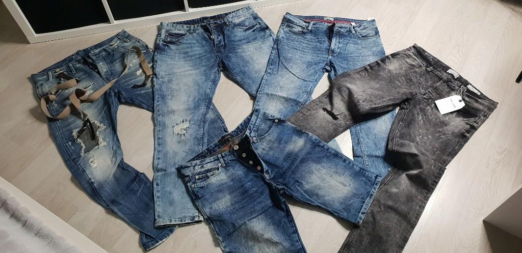 mega paka 16 szt spodnie koszule tshirty xl