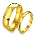 Das klassische goldene Stahl 316 l Paar Trauringe