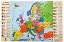 Podkład na biurko - Mapa Polityczna Europy + dane