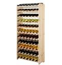 Regał na wino drewniany stojak półka RW-3-77 surow