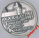 MEDAL KĘDZIERZYN-K. XXX LAT TOWARZYSTWA ZIEMI KOZ