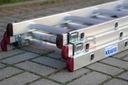 Drabina aluminiowa 3x7 KRAUSE CORDA 5,10m 030375 Maksymalny zasięg roboczy w pozycji rozłożonej/rozsuniętej 510 cm