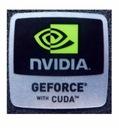 025 Naklejka nVidia GEFORCE with CUDA 18x18mm