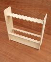 Drewniany stojak na wędki (surowy, 20 wędek)