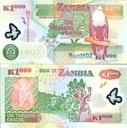 ~ Zambia 1000 Kwacha P-44d 2005 POLIMER Słoń UNC