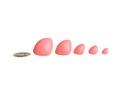 5 szt - sampler, zestaw - bezpieczne noski różowe