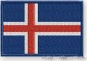 NASZYWKA - termo naszywki- FLAGA ISLANDIA - haft