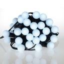 Lampki choinkowe mleczne kulki kule 50 szt. zimne Kolor lampek biały