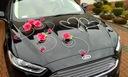 Dekoracja samochodu ozdoby na auto do ślubu kolory