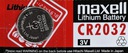 5 x CR2032 LITHIUM MAXELL Japan 3 Volt Lithiumbatterie 2032