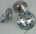 Kryształowe guziki tapicerskie o średnicy 25 mm