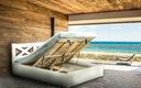 LUNA 160x200 łóżko z podnoszonym stelażem drewnian