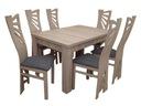 TANIO Stół rozkładany 165/80x120 z 6 krzesłami