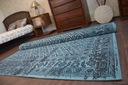 DYWAN VINTAGE 80x150 KWIATY turkus szary #B832 Szerokość 80 cm
