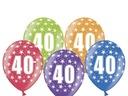 Balony na 40 urodziny 40stkę kolorowe 30cm 5 sztuk