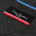 Sweter Męski Pierre Cardin modny L okrągły od ręki Kolor szary, srebrny
