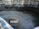 Hugo Boss BLACK ORYGINALNA KOSZULA W KRATKĘ/ M Kolor niebieski