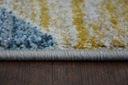 DYWAN NR 200x290 TRÓJKĄTY niebieski żółty #A070 Grubość 13 mm