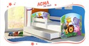 Łóżko dziecięce 140x70 szuflada materac BIAŁE ACMA Bohater inny