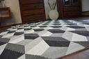 DYWAN SIZAL 200x290 KOSTKA 3D HEKSAGONY #B355 Kolor kremowy beżowy odcienie szarości czarny