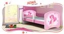 Łóżko dziecięce 160x80 + materac RÓŻOWE ACMA Bohater inny