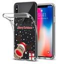 Świąteczne Etui do iPhone 7 Plus Renifer Mikołaj Kolor wielokolorowy