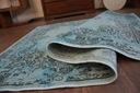 DYWAN VINTAGE 80x150 ROZETA niebieski czarny #B771 Długość 150 cm