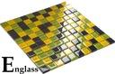 Mozaika szklana mix żółto-zielony MORA ENGLASS