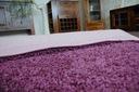 DYWAN SHAGGY 5cm fiolet 60x80 miękki jednolity Długość 80 cm
